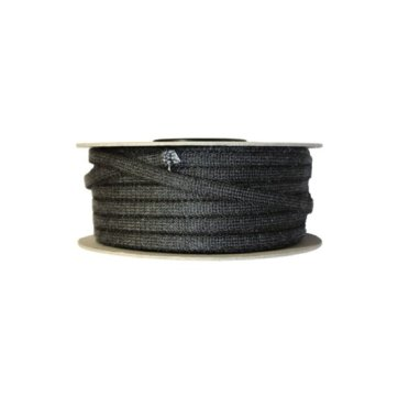 Glasvezelkoord rond 08 mm rol 100 meter zwart