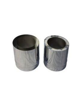 Isotube Plus 150x200 paspijp 390-740 mm ZWART