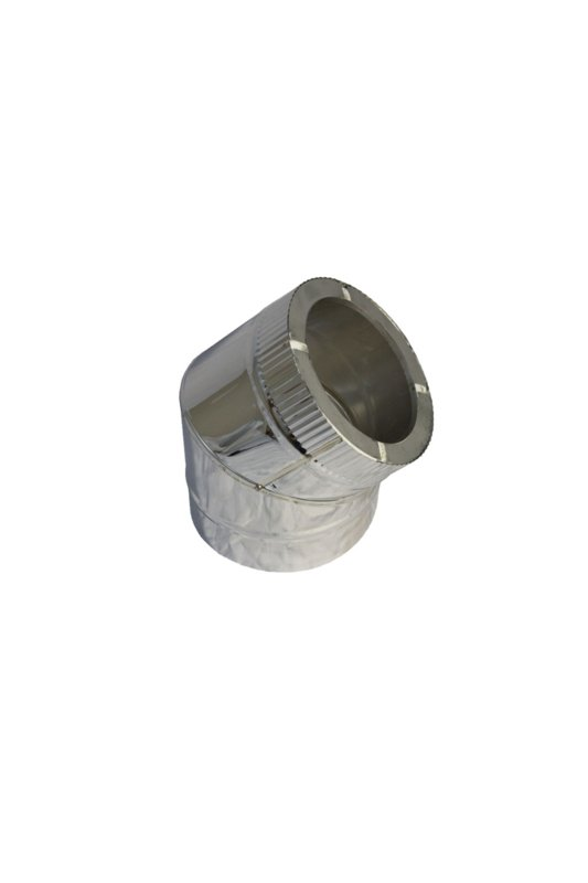 Isotube Plus 80 x 130 bocht 45 graden ZWART