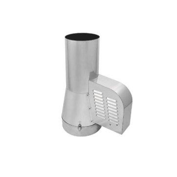 Rookgasventilator 150 mm met ronde aansluiting