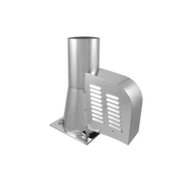 Rookgasventilator 200 mm met vierkante bodemplaat