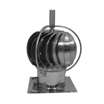 Turbowent draaikap met uitwendige lagers (vierkante plaat, 200 mm)