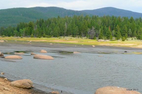 The north end of Delmoe Lake