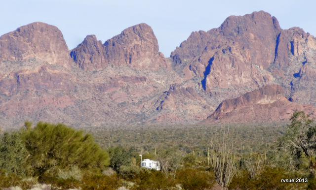 Spike, Bridget and I arrive at Kofa Wildlife Refuge on the day of Christmas Eve.  We stay through Christmas and into the new year.