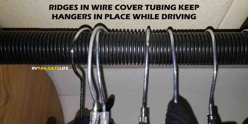 how to keep hangers on rod in rv