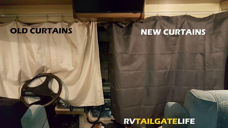 upgrading rv windshield curtains