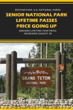 Senior 39 s national park lifetime pass price set to increase for Where to buy senior national park pass