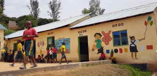 Kigali C A decorated walls