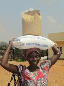 lady with flour bag