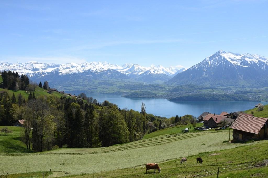 بحيرة ثون، إنترلاكن سويسرا