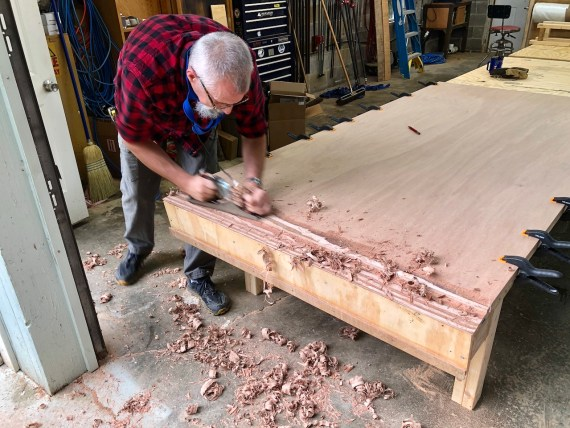 Hand Planing Plywood for a Scarf Joint