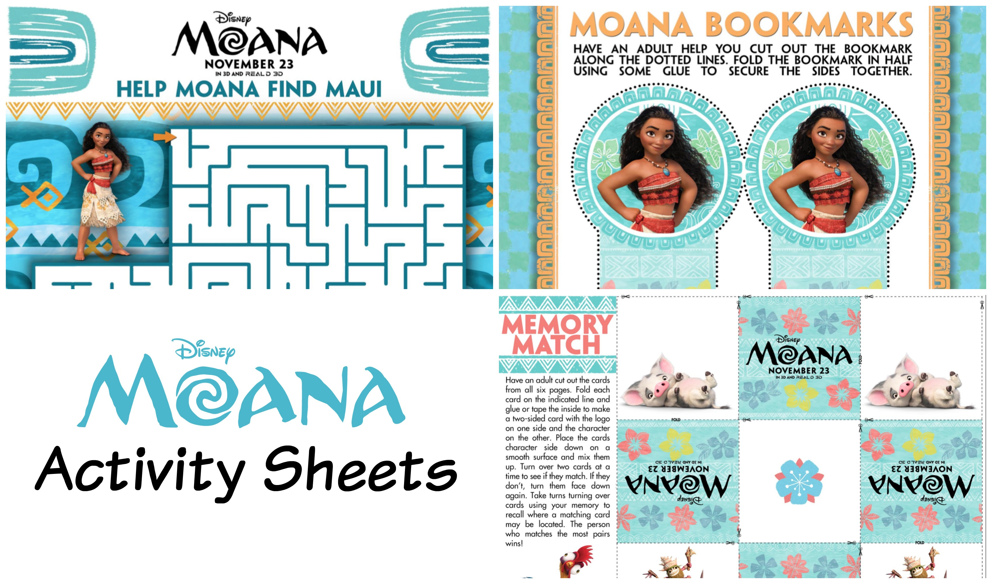 Disney S Moana Activity Sheets Moanaevent