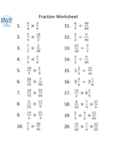 fractions worksheet math tutoring