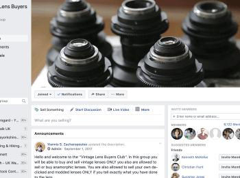 Vintage Lens Buyers Club – Facebook Group