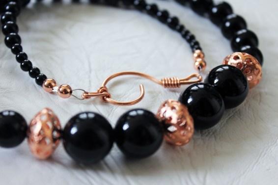 Black Onyx & Copper necklace