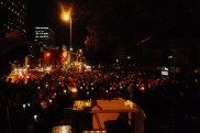 Quite a lot of people were there at the candlelight vigil on the night before the march.