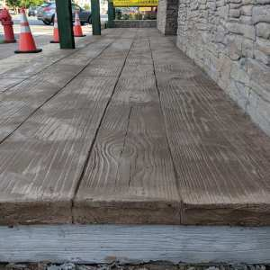 Simulated Wood Overlay from Concrete