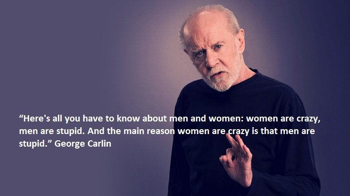 women men george Carlin