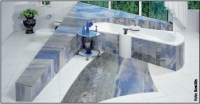Naturstein Schiefer im Bad plegen