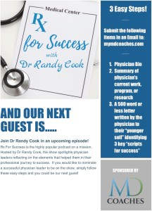 Rex for Success Podcast Physician Invite