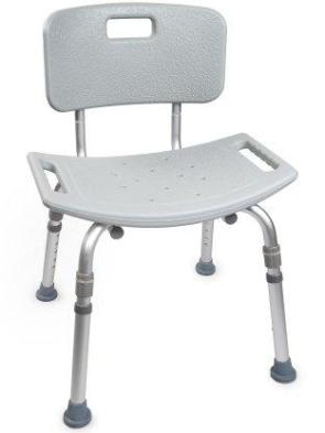 Bath Bench McKesson Fixed Handle Aluminum Frame Removable Back