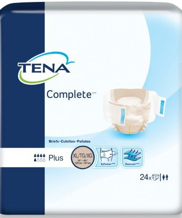 Adult Incontinence Brief TENA Complete X-Large Disposable Moderate Absorbency