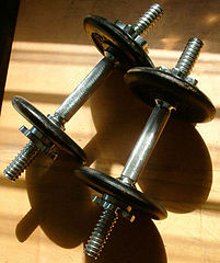 Two dumbbells. Found on Wikipedia