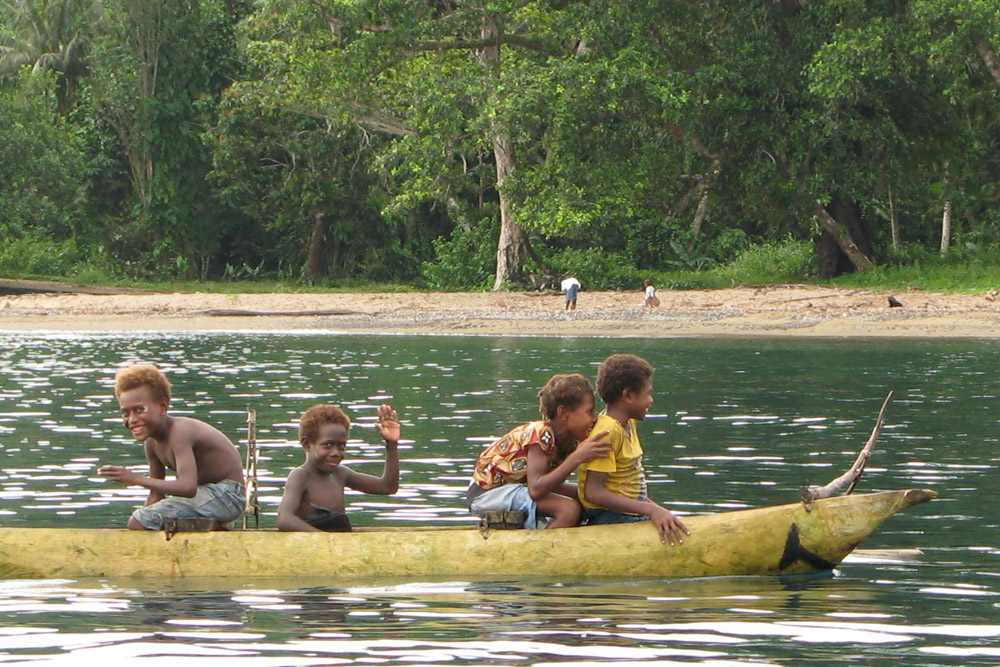 Children from the shark tribe grow up on the ocean,  instilling a deep relationship with the marine world from an early age
