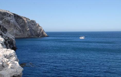 The waters around San Pedro Martit Island, Mexico.