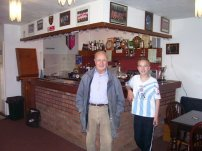 with the late Pete Henry who kindly took us around Brading Town