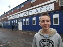 Stockport County AFC is painted on the wall