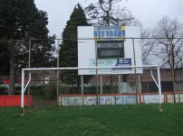 The net and scoreboard