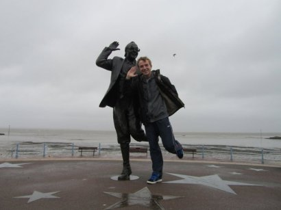 with the Eric Morecambe statue!