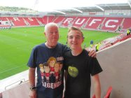 with my Grandad inside the New York Stadium