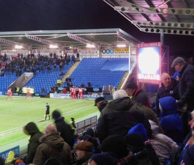 The home fans leave as Swindon make it 4-0