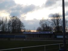 The sun sets in Staveley