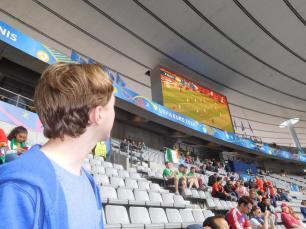 Watching the Spain v Czech Republic match on the big screen!