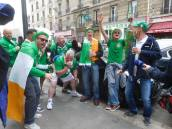The Irish fans