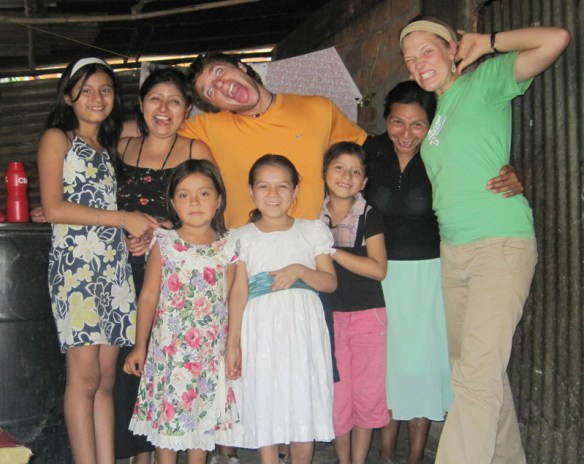 My friends and family in Las Delicias, El Salvador
