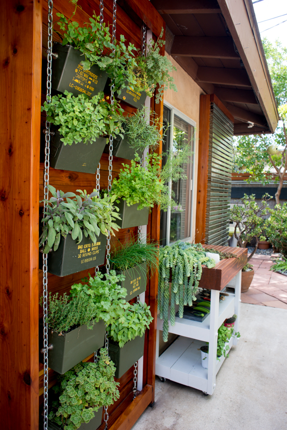 ammo can vertical herb garden | ryan benoit design