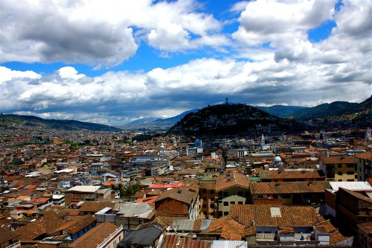 The view on top of Quito, Ecuador
