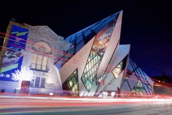 The Royal Ontario Museum at night. Photo by Ryan Bolton.