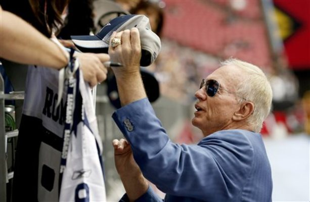Dallas Cowboys owner Jerry Jones will never be completely accepted by fans until his team makes it back to the Super Bowl.