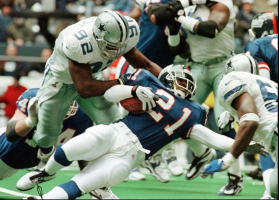 Despite a reputation as a steady pass-rusher, Tony Tolbert was also strong against the run.  In each season from 1991-97, Tolbert very quietly led all Dallas defensive linemen in tackles, topping out at 87 in 1992.
