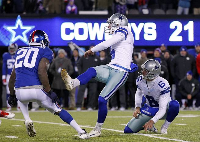 This 35-yard game-winning kick from November of 2013 is one of many big-money kicks that Dallas Dan Bailey has made against the Giants.
