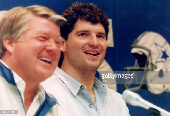 Jimmy Johnson's decision to bring Bernie Kosar to Dallas left a lasting impression on Jason Garrett.