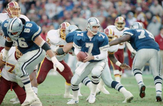 Steve Beuerlein won his first six starts in a Dallas uniform, and led the Cowboys to their first postseason victory in nine seasons.