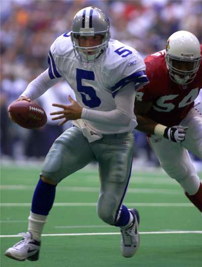 You have to go all the way back to the 2001 season and Clint Stoerner to find the last Cowboys starting quarterback who passed for less than 100 yards in a complete game.