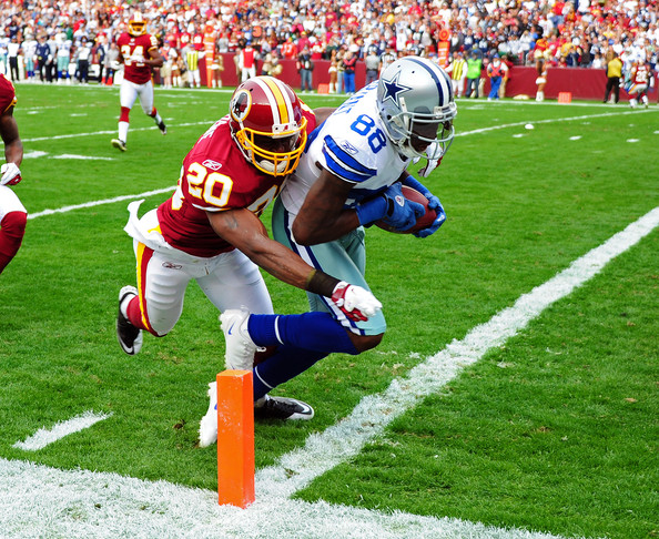 Dez Bryant has four career receiving touchdowns at FedEx Field.  This 22-yard first-quarter scoring play helped the Cowboys to a 27-24 overtime victory in November of 2011.