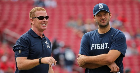 Jason Garrett's Cowboys have crash-landed with Tony Romo out with an injury, losing ten of eleven games, leaving the head coach on the hot-seat in Dallas.